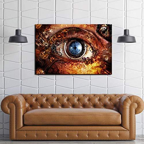 QQCYWZK Rahmenlos HD gedruckt abstrakte Wandkunst Öl ng auf Leinwand drucken Home Room Decoration Industrial Design 60x90cm