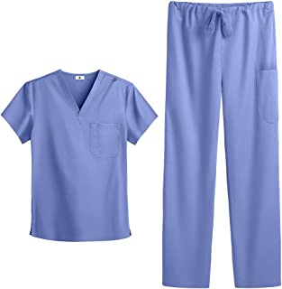 Unisex Stretch Scrub Set – Includes Medical Uniform Top and Pant (XS-3X, 6 Colors) by Strictly Scrubs