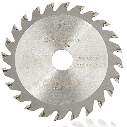 Sierra circular de 85 mm x 15 mm, 24 dientes, metal duro, sierra circular, Hoja de sierra circular Disco de corte giratorio de plata Cuchillas de sierra circular