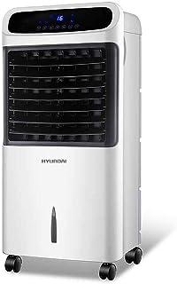 Verdunstungskühler Mobil vit med fjärrkontroll, tyst luftkonditionering, bärbar 3-vägs justerbar transparent vattentank oc...