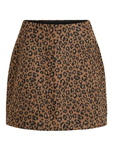 Vila Clothes Damen 14054371 Rock, Mehrfarbig (Toffee Print: Leopard), (Herstellergröße: 38)