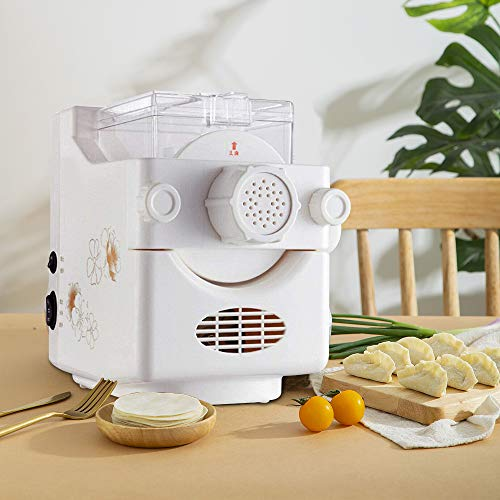 Electric Pasta Maker Machine, Stainless Steel Automatic Noodle Making Machine, Home Use 9 Noodle Shapes to Choose - Make Spaghetti, Fettuccine, Penne, Macaroni, or Dumpling Wrappers