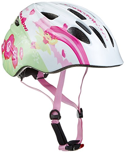 Cratoni Mädchen Fahrradhelm Akino, Fay White-Pink Glossy, S