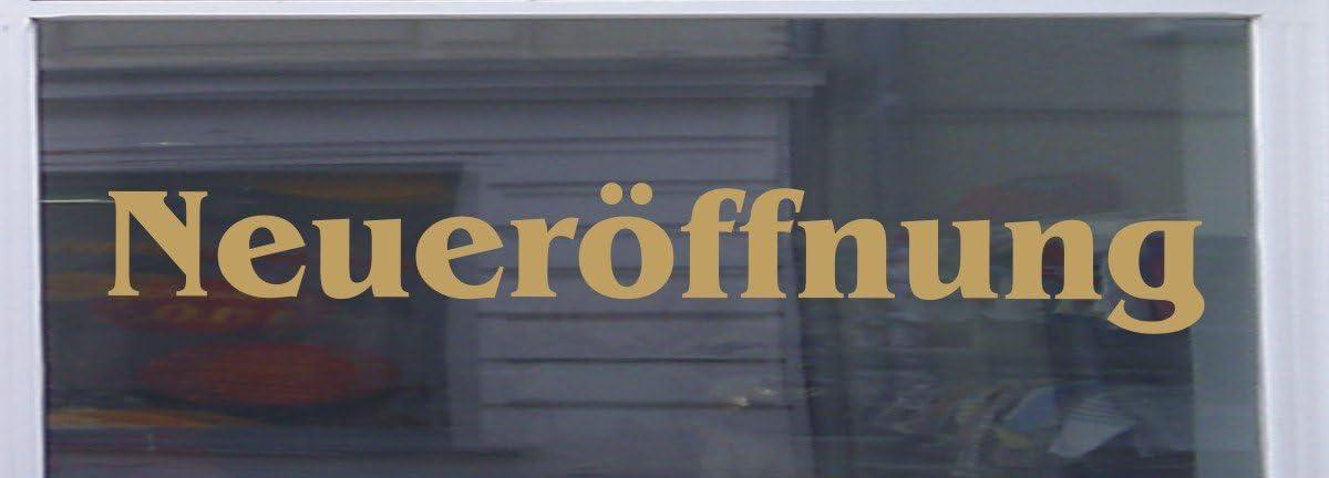 Don Cappello Neueröffnung Schaufensterbeschriftung Aufkleber Werbung Auto Laden Gold 1 Stück 60 Cm Küche Haushalt