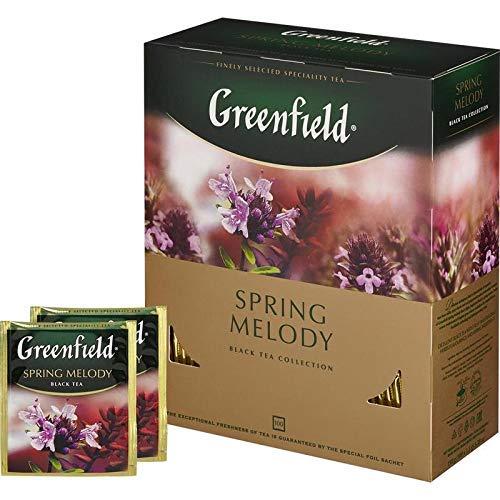 Greenfield Schwarztee Spring Melody 100 Btl