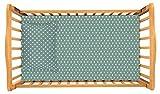 Crib / Toddler Bed Sheet and Toddler Pillowcase Set (Sage Green Polka Dot) Cotton by Dreamtown Kids