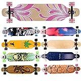 [page_title]-FunTomia Longboard Skateboard Drop Through Cruiser Komplettboard mit Mach1 High Speed Kugellager T-Tool mit und ohne LED Rollen