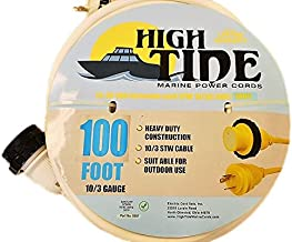 Marine Shore Power Extension Cord 30 Amp - 100 ft White (9507W)