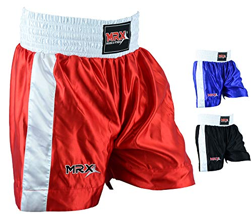 Men Boxing Shorts for Boxing Training Fitness Gym Cage Fight MMA Mauy Thai Kickboxing Trunks Clothing Red XL