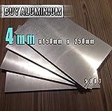 Placa de aluminio de 4 mm, grado 5083, 150mm x 250mm, 1