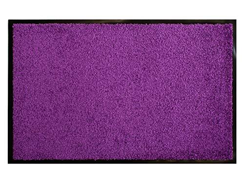Primaflor - Ideen in Textil Schmutzfangmatte CLEAN – Lila Violett 40x60 cm, Waschbare, rutschfeste, Pflegeleichte Fußmatte, Eingangsmatte, Küchenläufer Sauberlauf-Matte, Türvorleger für Innen & Außen