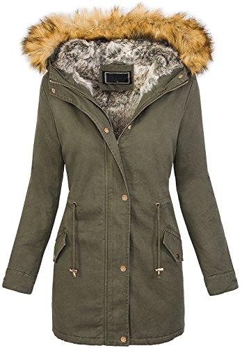 Rock Creek Designer dames winterjas teddyfell mantel D-208
