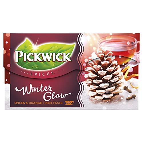 Pickwick Spices Winter Glow Zwarte Thee met Specerijen en Sinaasappel, Wintergloed (240 Theezakjes, Rainforest Alliance…