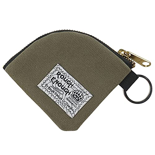 Rough Enough Key Ring Holder Earbud Case Small Coin Purse Pouch for Mini Stuff