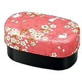 たつみや(Tatsumiya) 桜うさぎ 布貼加賀小判弁当 ピンク サイズ:約W15.4 D9.3 H7.4 50135