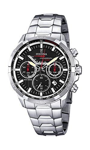 Festina Herren-Armbanduhr Chronograph Quarz Edelstahl F6836/4