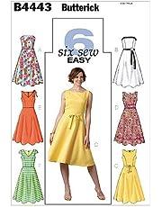BUTTERICK 4443 FF - Patrón de Costura para Confeccionar Vestido de Mujer (6 Modelos Diferentes, Tallas 44-50) [en inglés, alemán y francés]
