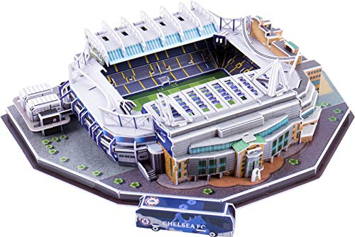 CALISTOUK Rompecabezas Tridimensional 3D mundialmente Campo de fútbol Rompecabezas para niños Chicos DIY Hechizo Insertar Juguete ((Reino Unido))