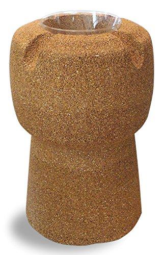 Greencorks, Portabottiglie refrigerante in Sughero Pieno Biondo. Tiene ¾ Bottiglie. A Forma da Tappo per Champagne H 98 cm.