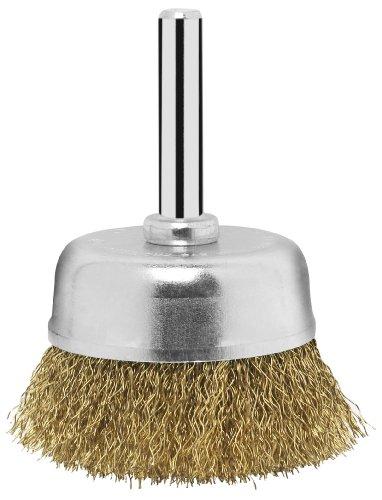 Bosch 2 609 256 516 - Cepillo de vaso para taladradoras, alambre ondulado, latonado, 50 mm