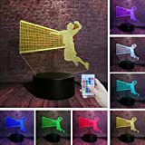Said Play Volleyball Model 3D Night Light Ilusión Creativa 7-Color Change Light LED Decoración de Dormitorio Niños Estudiante Fan Regalo de Navidad