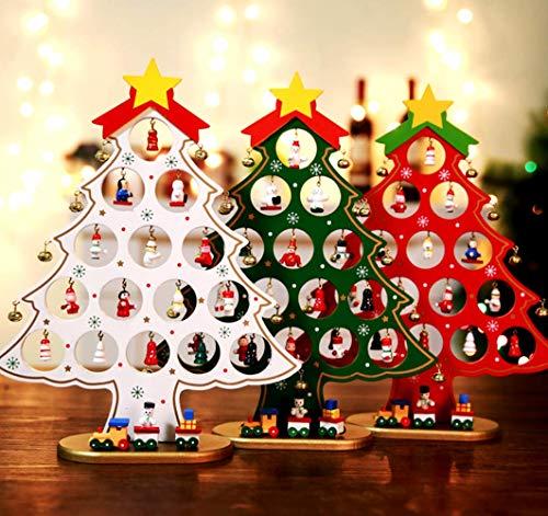 Sunshine クリスマスツリー 卓上 ミニ テーブル ミニツリー 30cm DIY オーナメント付き クリスマス プレゼント クリスマス飾り (グリーン)