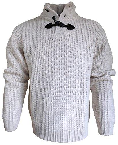 MASELLI Stehkragen Pullover Troyer mit Knopf- und Knebelverschluss (58)