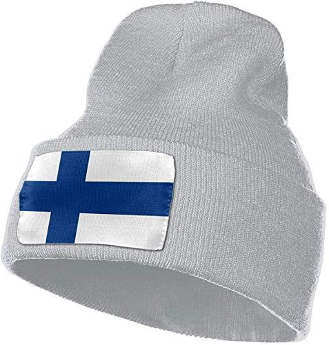 hgfyef Beiläufige Woolen Kappe für Männer Frauen, 100% Acrylsäure Finnland-Markierungsfahnen-Uhr-Kappe DIY 13465