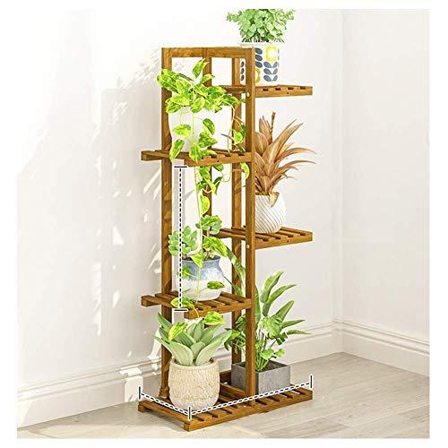 Supports pour Plantes en Bois Massif Peuplement Durable Diverses Plantes en Pot Brun Convient pour Le Salon Balcon Chambre Jardin Magasin De Fleurs