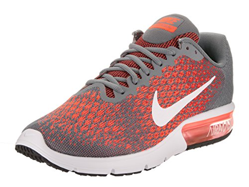Nike Men's Air Max Sequent 2 Running Shoes (11.5 D(M) US, Cool Grey/White-Max Orange)