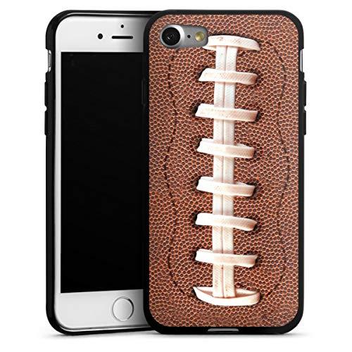 DeinDesign Silikon Hülle kompatibel mit Apple iPhone SE (2020) Case schwarz Handyhülle Fußballer Ball American Football