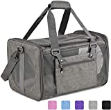 Vailge Cat Carrier Dog Carrier Airline Approved Pet Carriers for Medium Big Cats Dogs Puppies Bunny of 25lbs, Small Dog Soft Sided Carrier Collapsible Puppy Carrier (Grey)