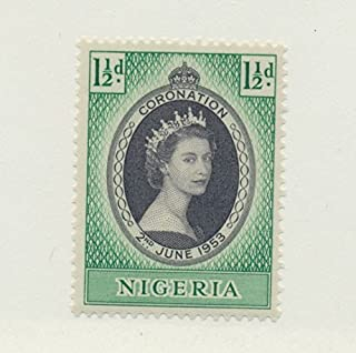 Nigeria Scott #79 - Queen Elizabeth II Coronation, British Commonwealth Common Design Issue From 1953 - Collectible Postage Stamps