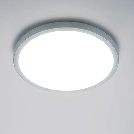 Yafido Plafonnier LED 18W UFO Panel Rond Lampes de Plafond Moderne Ultra-mince LED Lampe 1620LM Blanc Froid 6500K Facile à installer Applicable à Salle de Cuisine Salon Balcon Ø18cm