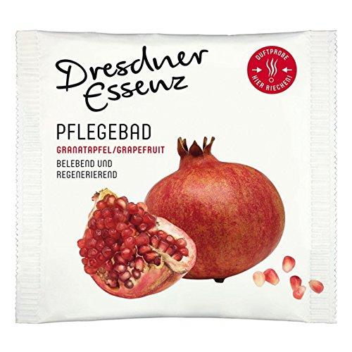 10er Pack Dresdner Essenz Pflegebad Badezusatz Badeessenz Wellnessbad Granatapfel/Grapefruit Inhalt 10 x 60 g mit Panthenol ph-hautneutral