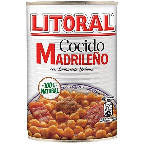 LITORAL Cocido Madrileño, Plato Preparado Sin Gluten - 400 gr