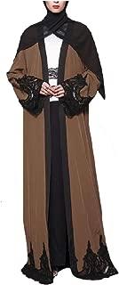 neveraway Women's Middle East Long-Sleeve Cardigan Muslim Dresses Abaya