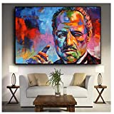 dubdubd Bunte Marlon Brando Leinwand Malerei Poster und