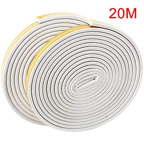 DasMarine D型 隙間テープ 気密テープ 衝突防止 窓 ドア 隙間 戸当たり 玄関用 防音 防風 防虫 遮音 白色 2本入 10m/本
