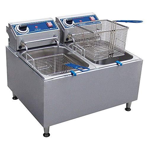 Globe Food Equipment PF32E Countertop Fryer - Electric, 32 lb. Oil Capacity