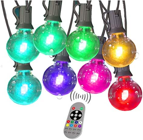 Color Changing String Lights with Remote Outdoor LED Colored String Lights Waterproof 96Ft 50 product image