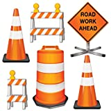 Beistle 54376 6-Pack Road Crew Cutouts, 11-1/2-Inch-18-Inch