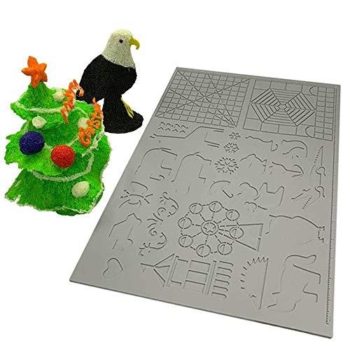 3D Printing Pen Silicone Design Deurmat Patroon Tekening Tool Pad Silicone Kinderen Geometrische Tekening 170X110X2Mm @Groen