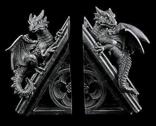 Drachen Buchstützen Set | Deko Figuren Gothic