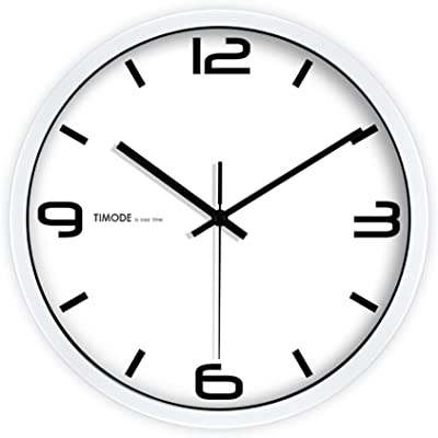 HLJ Simple Personality Digital Wall Clock Creative Living Room Quartz Clock Fashion Classic Clock (Color