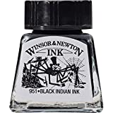 Winsor & Newton tinta para dibujo Drawing Ink - frasco de 14ml, negro