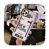 Carcasa para iPhone 11 Pro X XR XS Max 6 6S 7 8 Plus con diseño de billete de avión de viaje con etiqueta de país suave TPU para iPhone 11 -T1 para iPhone XS Max