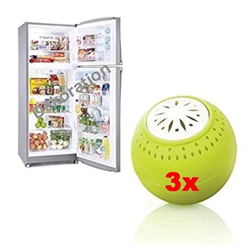 TEG40 - 3 Pack - SIN QUÍMICA - carbón natural - neutralizador de olores - Refrigerador olor removedor con carbón activo