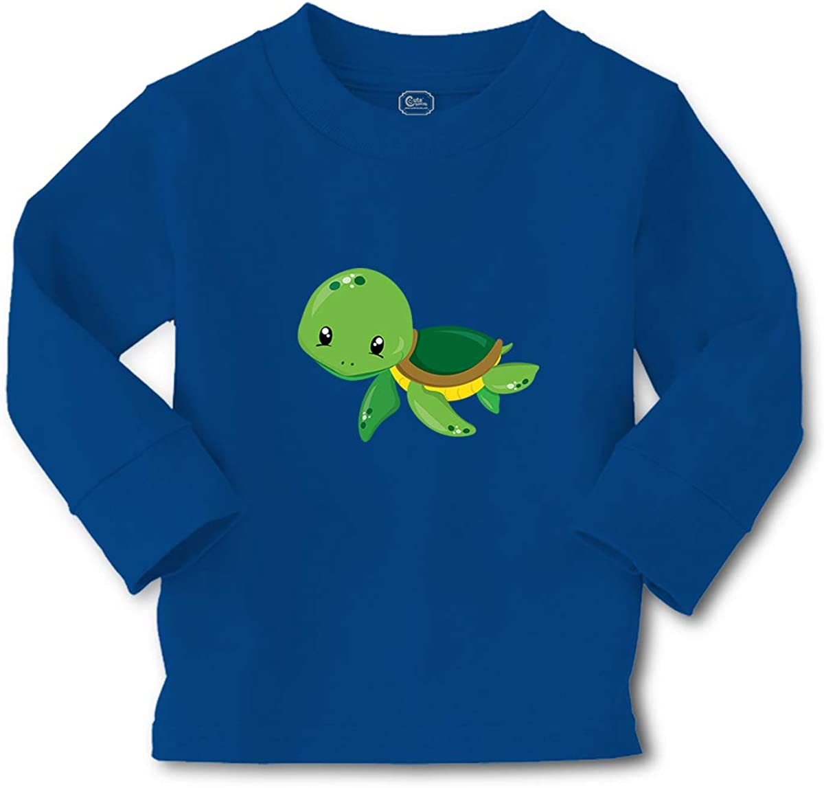 Kids Long Sleeve T Shirt Green Turtle Cotton Boy & Girl Clothes
