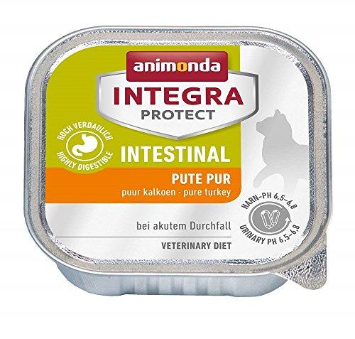 animonda Integra Protect Intestinal Katze, Diät Katzenfutter, Nassutter bei Durchfall oder Erbrechen, Pute pur,  16 x 100 g
